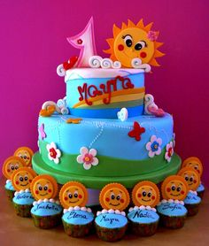 Sun cake - by ZuccheroMagie @ CakesDecor.com - cake decorating website