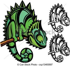 Vector - Chameleon cartoon character - stock illustration, royalty free illustrations, stock clip art icon, stock clipart icons, logo, line art, EPS picture, pictures, graphic, graphics, drawing, drawings, vector image, artwork, EPS vector art