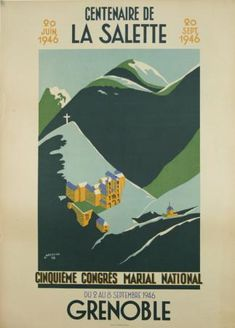 Grenoble, centenaire de la Salette - 1946 - illustration de Chazalon - France -