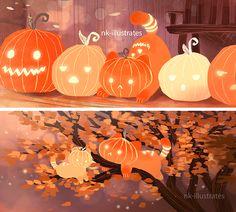 "nk-illustrates: ""Lantern the Cat 01. """