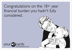 18+ years financial burden