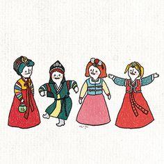 니나노니나니나 한복 일러스트 엽서 Korean Traditional, Pictures To Draw, Illustration Art, Typography, Drawings, Poster, Logos, Design, Patterns
