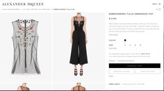 3. Just sell marginally on the internet  Alexandermcqueen.com  -Alexander McQueen   The Alexander McQueen website utilizes the internet as a complementary service to their existing customers. Entry level products such as scarves, bags, and shoes can be pu