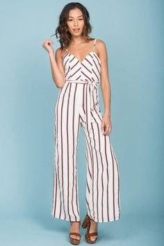 b92a4cbe7b Kallie Striped Jumpsuit White Striped Jumpsuit