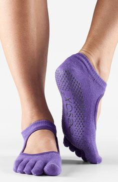 ToeSox 'Bella' Full Toe Gripper Socks available at #Nordstrom...want these for Zumba in the living room