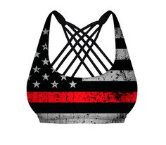 Thin Red Line Vitality Sports Bra (Firefighter Edition) – 5-5-5 Firefighter Fitness, Inc.