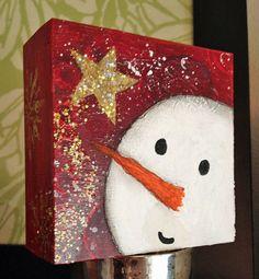 La peinture de bonhomme de neige décoration de Noël par JillsDream