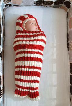 Pieni lankarulla: vauvan toukkapussi, villakapalo vauvan neule vauvapussi