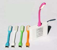 Stylish Bendable USB LED Lamp Light Powered by USB Power Plug/Mobile Charger #UnbrandedGeneric