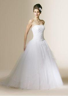 Wedding Gown With A Stylish Neckline