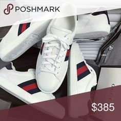 Gucci Ace Classic Sneakers Brand new Dead stock box dust bags tags and receipts included Many Sizes Authentic❄ For All Deals And Offers reasonable. Thanks Gucci Shoes Sneakers Gucci Shoes Sneakers, Adidas Sneakers, Classic Sneakers, Sneaker Brands, Classic Man, Women Brands, Me Too Shoes, Brand New, Man Shop