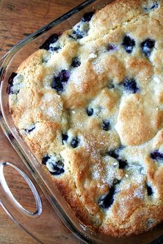 Recipe - Buttermilk-Blueberry Breakfast Cake (via alexandras kitchen  seasonal recipes for everyone)