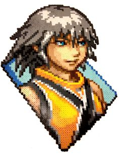 Riku - Kingdom Hearts Perler Pixel Art by Regalopia Freak Creations