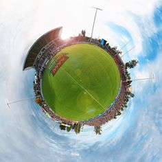 Stadium Planets No.3 (Scully Park) What a top class regional stadium Tamworth has. Awesome seeing it sold out on such a cracking day |  Digital Composition: Me! @p_barks by p_barks