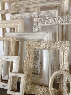 Shabby Chic Home Decor Gallery Wall Frames by Sea Love And Salt
