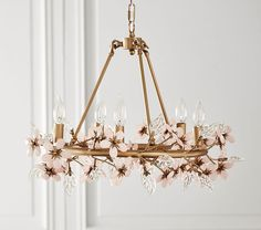 Find products and baby stuff at Pottery Barn Kids. Shop the baby shop and discover baby bedding, furniture, essentials and more. Girls Chandelier, Nursery Chandelier, Capiz Chandelier, Painted Chandelier, Flower Chandelier, Pottery Barn Chandelier, Flower Lamp, Nursery Lighting, Child Room