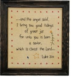 'Luke Wall Sign by Primitives by Kathy Festive and fun, this charming sign will add a lively lift to any home. Create a cozy and cheerful atmosphere by displaying it on a wall or shelf. W x H Wood Imported Christmas xmas holidays Jesus Christ Christian Broderie Primitive, Primitive Embroidery, Primitive Stitchery, Primitive Crafts, Primitive Patterns, Primitive Ornaments, Christmas Sewing, Christmas Embroidery, Primitive Christmas