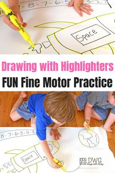 fine motor activity for kids to use as a Breakfast Invitation or small group work. Pre-k and toddlers will enjoy this prewriting activity. Fine Motor Activities For Kids, Motor Skills Activities, Writing Activities, Fine Motor Skills, Preschool Activities, Kids Learning, Shape Activities, Morning Activities, Early Learning