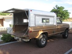 I have a 71 F 250 that I want to build into an overland vehicle. I have the drivetrain where I want it (except for a Gear Vender overdrive unit, which I. Truck Bed Trailer, Slide In Truck Campers, Old Campers, Classic Campers, Classic Trucks, Land Rover Defender, Truck Bed Camping, Camping Hammock, Kayak Camping