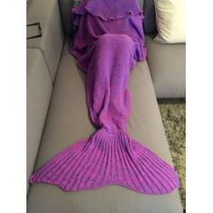 SHARE & Get it FREE | Fashion Comfortable Falbala Decor Knitted Mermaid Design Throw BlanketFor Fashion Lovers only:80,000+ Items • New Arrivals Daily • FREE SHIPPING Affordable Casual to Chic for Every Occasion Join Twinkledeals: Get YOUR $50 NOW!