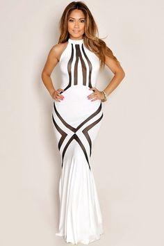 87bb21ff8f37 Robe longue blanche manche longue pas cher Sexy Dresses