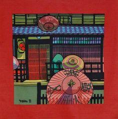 'Kyoto Gion Umbrellas' by Clifton Karhu