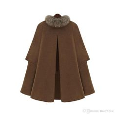 2016 Hot Sell Cap Poncho Winter Womens Double Breasted Cape Batwing Wool Blend Poncho Belted Jacket Female Lady Winter Warm Cloak Coats From Manweisi, $78.94 | Dhgate.Com