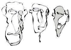 Experimenteren met lijnen zonder van het papier te komen met ogen dicht.. probeer het eens!!