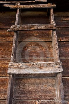 primitieve houten ladder