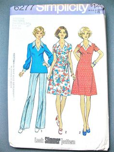 UNCUT 70s Dress Sewing Pattern by Simplicity 6277  by Fancywork