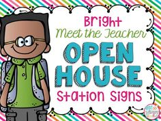 Diary of a Not So Wimpy Teacher: Monday Made It- Open House Stations