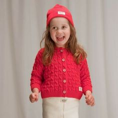 This is cute and lovely color. Tipu-cardigan by Ecobaby #Ecobaby #finnishdesign #Weecos #sustainable