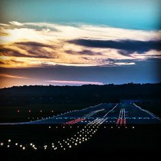 Night Flight - Magic runway at Krakow Airport - photo taken by Jacek Krawczyk