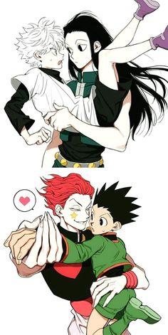 Hunter x Hunter - Killua, Illumi, Hisoka, Gon! Hunter X Hunter, Hisoka Hunter, Hunter Anime, City Hunter, Manga Anime, Anime Amor, Anime Guys, Killua, Hxh Characters