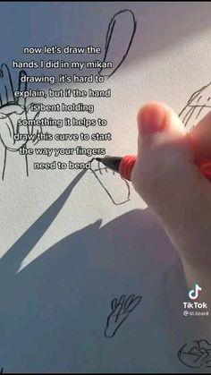 Art Drawings Sketches Simple, Pencil Art Drawings, Easy Drawings, Hand Drawing Reference, Art Reference Poses, Drawing Techniques, Drawing Tips, Main Manga, Body Drawing Tutorial
