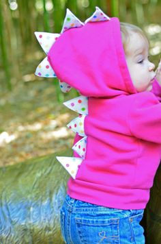 Children's Dinosaur Hoodie by SwankyPankyDesigns on Etsy, $26.00
