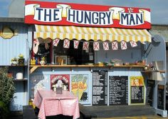 Hungry Man Cafe, Rozel Harbour Jersey, where Izzy and Jess buy their hot chocolates and ice creams