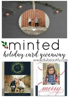 Choosing holiday cards is easy with Minted, where the selection is incredible! Win one of three (3) $100 giftcards at diy beautify!