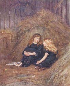 In The Hayloft     Helen Allingham (1848 – 1926, English)