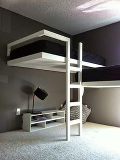 Innovative and Unique Bunk Beds for Boys : Really Cool Bunk Beds The Best of inerior design in - Home Decoration - Interior Design Ideas Unique Bunk Beds, Modern Bunk Beds, Cool Bunk Beds, Modern Bedroom, Minimalist Bedroom, Modern Minimalist, Bunk Bed Ideas For Small Rooms, Stylish Bedroom, Minimalist Interior