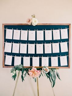 seating chart with clothespins from Bluestone Vineyard Wedding