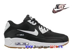 7de47d63d08f1 Nike Air Max 90 2018 Gs Sports Chaussures Femme Blanc noir marron  325213-055-