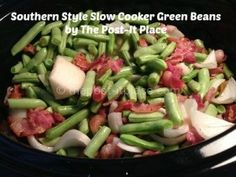 Southern Style slow cooker Green Beans that taste just like grandma's!