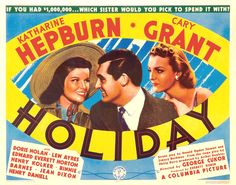 Holiday (Poster; from Turner Classic Movies)