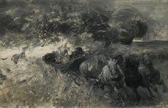 Zygmunt Ajdukiewicz (1861-1917), Echappant à la Tempête.