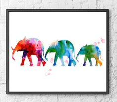 Watercolor art  watercolor painting print  elephant by Thenobleowl, $12.00