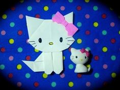 Origami Maniacs 162: Origami Charmmy the Cat - YouTube