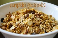We love pumpkin granola!! So delicious and much healthier & more frugal to make at home! Granola is very forgiving...give and take of the ingredients your family will love! #hismercyisnew
