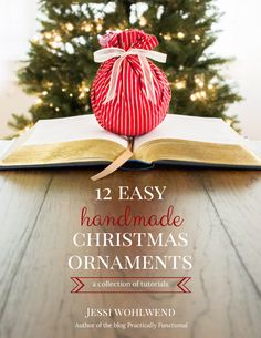 12 easy tutorials for handmade Christmas ornaments, all in one ebook! Get a free sample chapter (one full Christmas ornament tutorial) here!