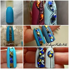 There are three kinds of fake nails which all come from the family of plastics. Acrylic nails are a liquid and powder mix. They are mixed in front of you and then they are brushed onto your nails and shaped. These nails are air dried. Gel Nail Art, Easy Nail Art, Nail Polish, Nail Art Paillette, Sculpted Gel Nails, Nail Mania, Damaged Nails, Flower Nails, Creative Nails
